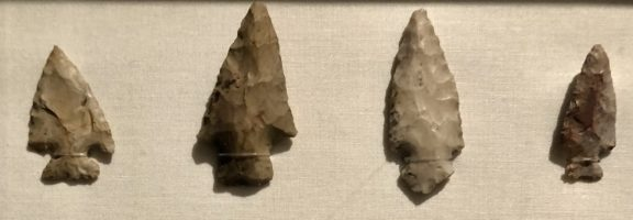Arrowheads discovered near the present-day Indian Hill Club.