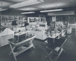 Interior of L&A Stationers, c. 1960s