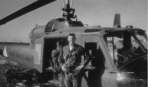 Long-serving WHS Board Member Philip J. Hoza III in 1967 when he piloted Army helicopters in Vietnam.