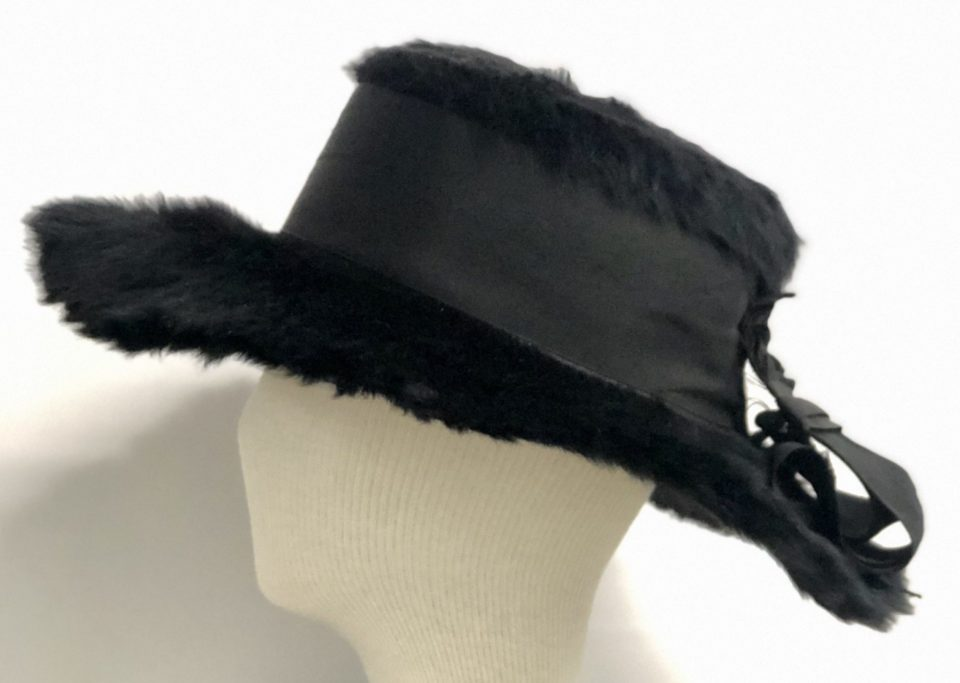 Peace Activist and Suffragette Lola Maverick Lloyd (1875-1944) wore this beaver fur hat, c. 1910.